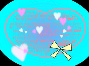 """Heart full of """"I LOVE YOU"""""""