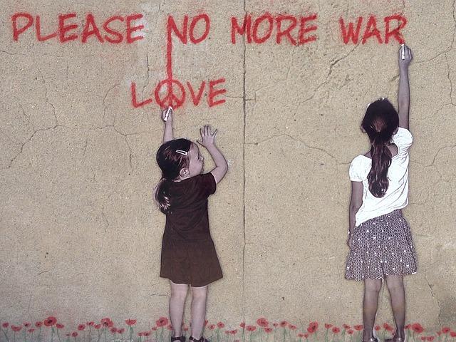 Graffiti promoting PEACE